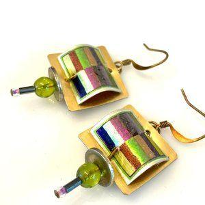 Handmade Metal & Bead Earrings